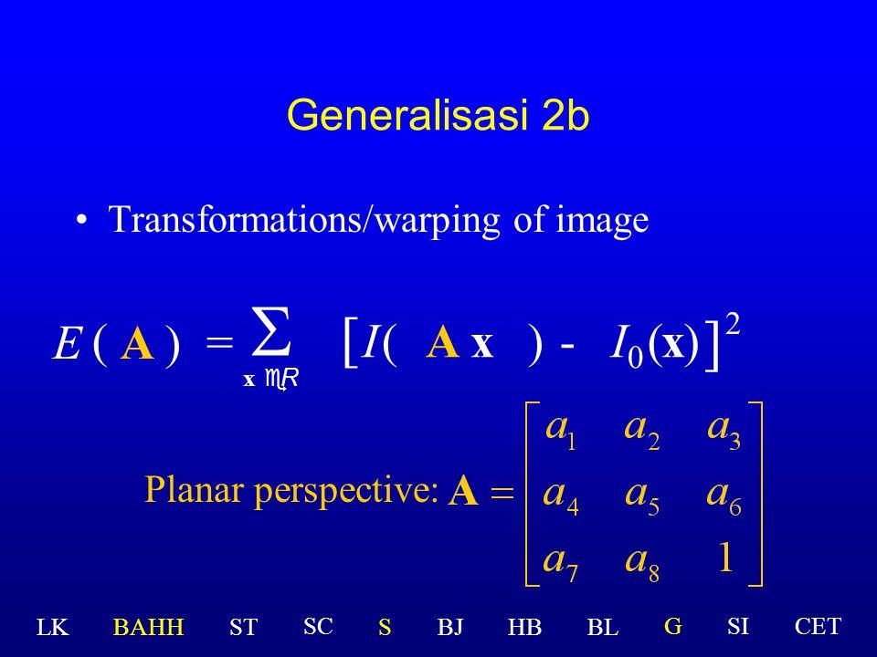 S [ ] E ( A ) = I ( A x ) - I0 ( x ) 2 Generalisasi 2b